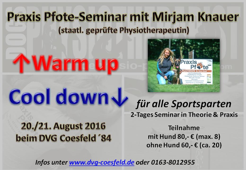 Warm up Cool down Seminar 2016 Poster 2